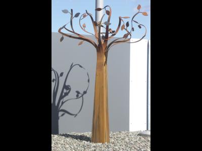 cortenstahlbaum, stammbaum, lebensbaum, ruheforst, baum, stahl, cortenstahl, rost
