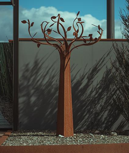 Cortenstahlbaum